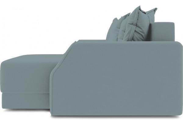 Диван угловой правый «Люксор Slim Т1» (Poseidon Lagoon (иск.замша) бледно-бирюзовый) - фото 5