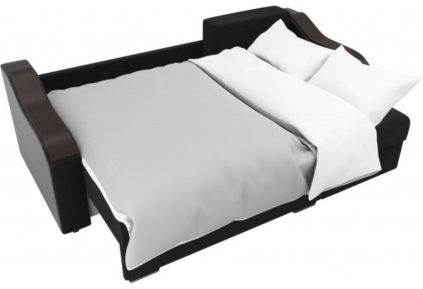Угловой диван Монако черный/черный (Велюр/Экокожа) - фото 8