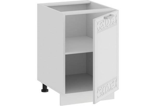 Шкаф напольный с одной дверью «Долорес» (Белый/Сноу) - фото 2