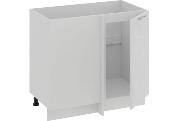 Шкаф напольный угловой «Весна» (Белый/Белый глянец) - фото 2