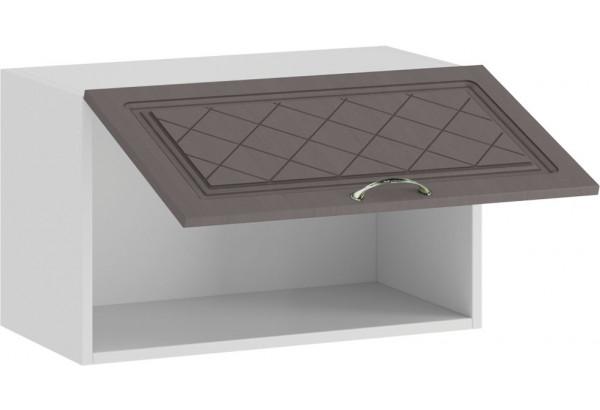 Шкаф навесной c одной откидной дверью «Бьянка» (Белый/Дуб серый) - фото 2