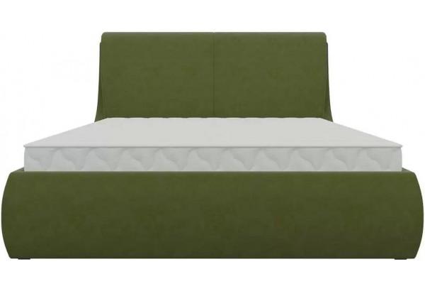 Интерьерная кровать Принцесса Зеленый (Микровельвет) - фото 2