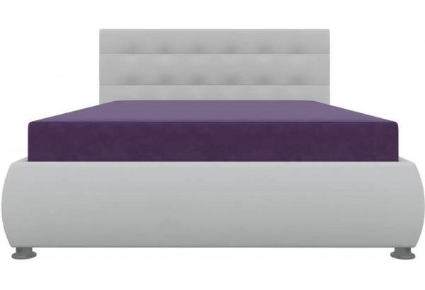 Тахта - кровать Рио Фиолетовый/Белый (Микровельвет) - фото 2