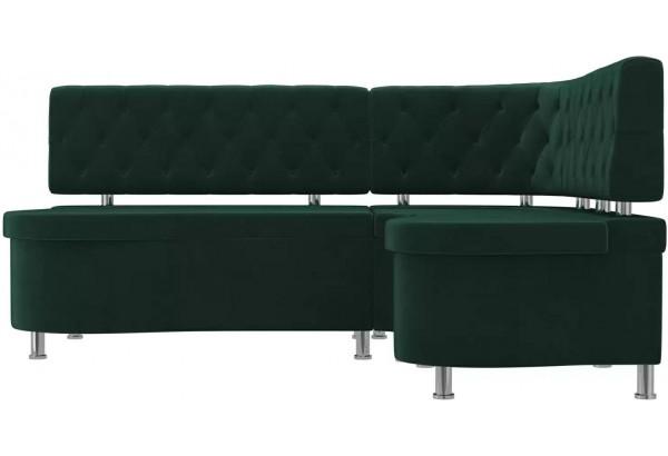 Кухонный угловой диван Вегас Зеленый (Велюр) - фото 2