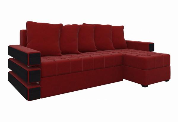 Угловой диван Венеция Красный (Микровельвет) - фото 1