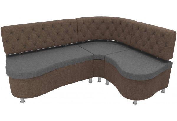 Кухонный угловой диван Вегас Серый/коричневый (Рогожка) - фото 4