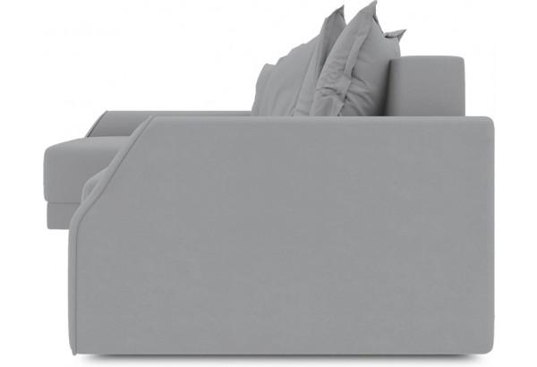 Диван угловой левый «Люксор Slim Т2» (Poseidon Grey (иск.замша) серый) - фото 3