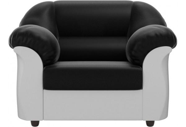 Кресло Карнелла Черный/Белый (Экокожа) - фото 2