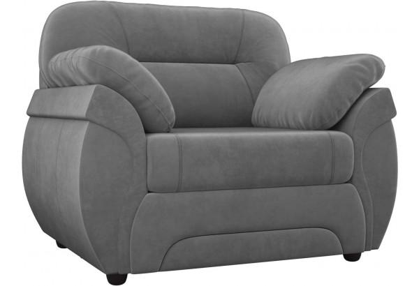 Кресло Бруклин Серый (Велюр) - фото 1