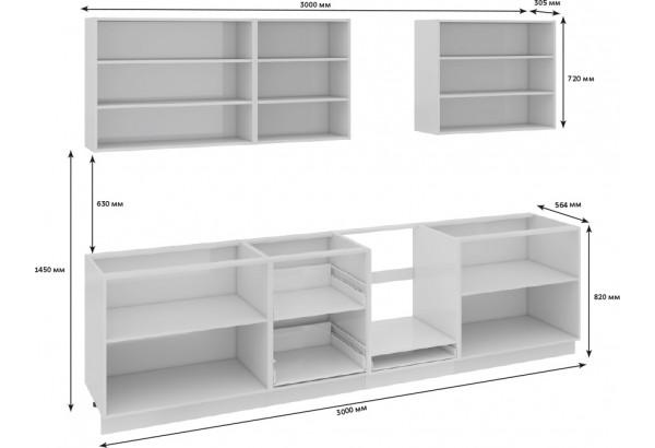 Кухонный гарнитур длиной - 300 см (со шкафом НБ) Фэнтези (Вуд) - фото 3