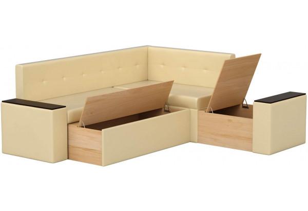 Кухонный угловой диван Остин Бежевый (Экокожа) - фото 2
