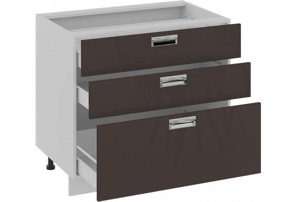 Шкаф напольный с 3-мя ящиками БЬЮТИ (Грэй) - фото 2