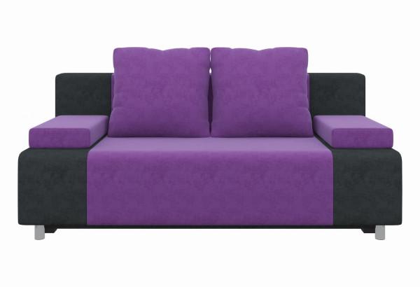 Диван прямой Шарль Фиолетовый/Черный (Микровельвет) - фото 2