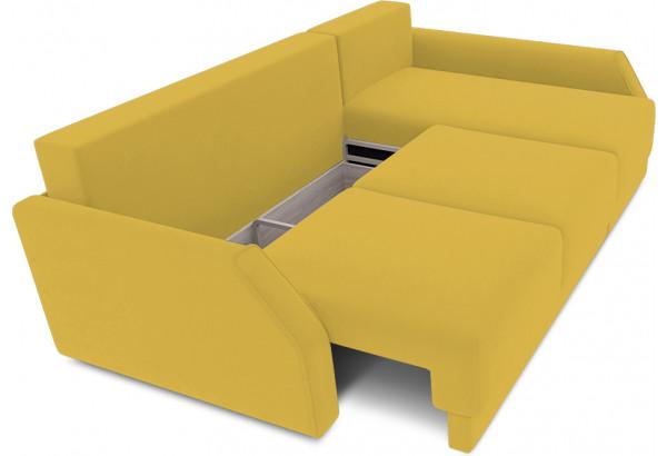 Диван угловой правый «Люксор Slim Т2» (Poseidon Curcuma (иск.замша) желтый) - фото 6