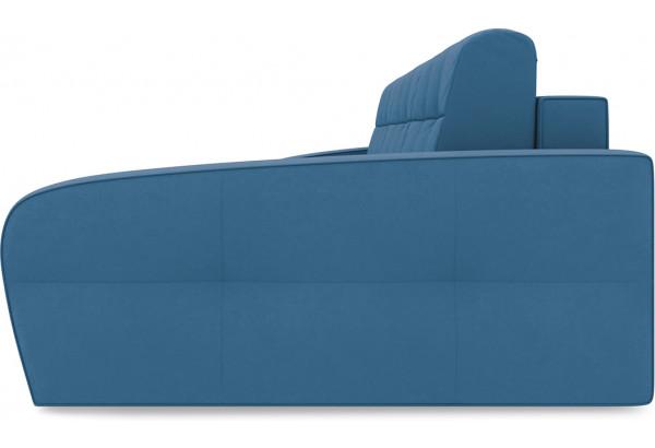 Диван угловой правый «Аспен Т2» Beauty 07 (велюр) синий - фото 4