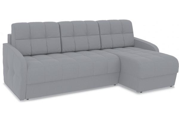 Диван угловой правый «Аспен Slim Т1» (Poseidon Grey (иск.замша) серый) - фото 1
