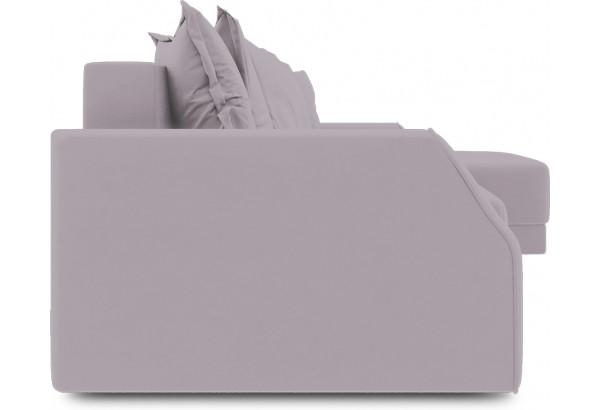 Диван угловой правый «Люксор Slim Т1» (Poseidon Pale Lavender (иск.замша) бледно-лавандовый) - фото 3