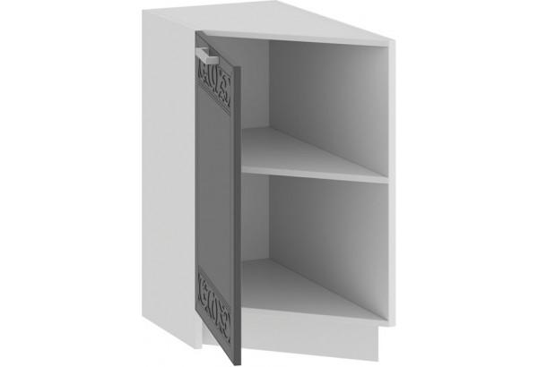 Шкаф напольный торцевой с одной дверью «Долорес» (Белый/Титан) - фото 2