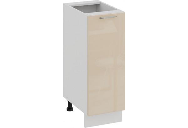 Шкаф напольный с одной дверью «Весна» (Белый/Ваниль глянец) - фото 1