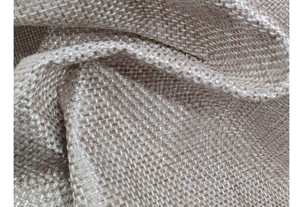 Прямой диван Сатурн бежевый/коричневый (Рогожка/Экокожа) - фото 9