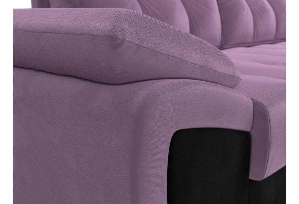 Угловой диван Нэстор прайм Сиреневый/Черный (Микровельвет) - фото 4