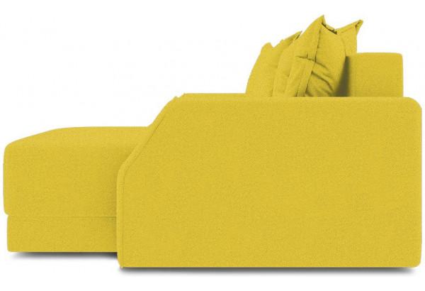Диван угловой правый «Люксор Slim Т1» Maserati 11 (велюр) желтый - фото 3