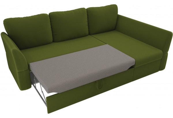 Угловой диван Гесен Зеленый (Микровельвет) - фото 6