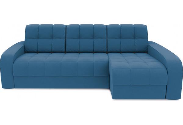 Диван угловой правый «Аспен Т2» Beauty 07 (велюр) синий - фото 2