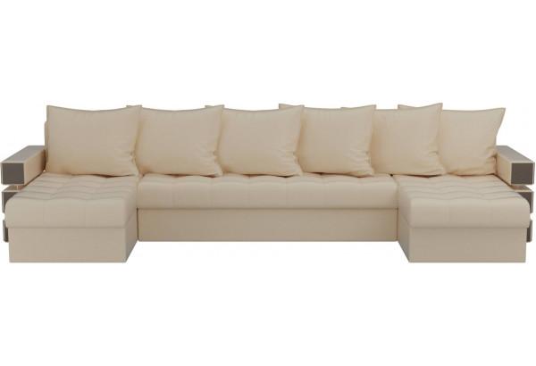 П-образный диван Венеция Бежевый (Экокожа) - фото 2
