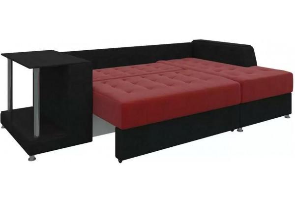 Угловой диван Атланта красный/Черный (Микровельвет) - фото 3