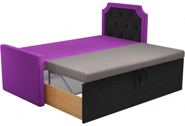 Кушетка Севилья Фиолетовый/Черный (Микровельвет) - фото 2