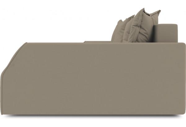 Диван угловой правый «Люксор Slim Т2» (Poseidon Mocco (иск.замша) светло-коричневый) - фото 5