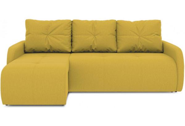 Диван угловой левый «Томас Slim Т1» (Poseidon Curcuma (иск.замша) желтый) - фото 2