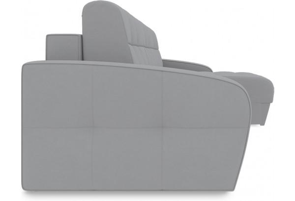 Диван угловой правый «Аспен Т1» (Poseidon Grey (иск.замша) серый) - фото 3