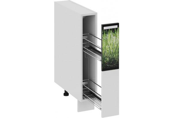 Шкаф напольный с выдвижной корзиной ФЭНТЕЗИ (Грасс) - фото 1