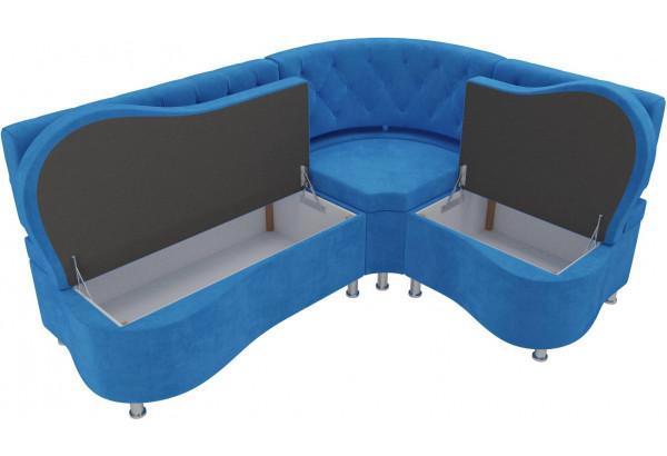 Кухонный угловой диван Вегас Голубой (Велюр) - фото 5