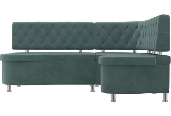 Кухонный угловой диван Вегас бирюзовый (Велюр) - фото 2