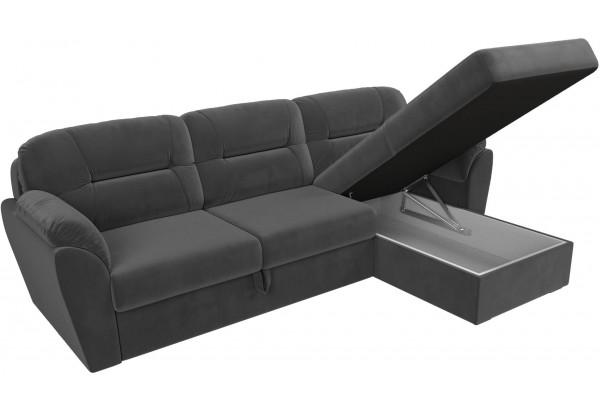 Угловой диван Бостон Серый (Велюр) - фото 6
