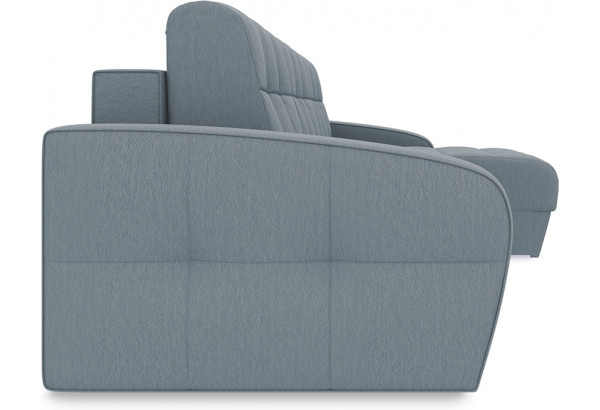 Диван угловой правый «Аспен Slim Т1» Kolibri Silver (велюр) серый - фото 5