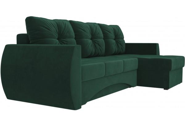 Угловой диван Сатурн Зеленый (Велюр) - фото 3