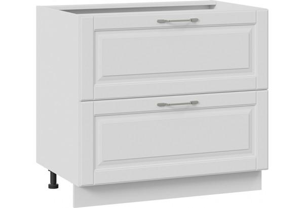 Шкаф напольный с 2-мя ящиками (СКАЙ (Белоснежный софт)) - фото 1