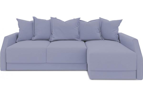 Диван угловой правый «Люксор Slim Т2» (Poseidon Blue Graphite (иск.замша) серо-фиолетовый) - фото 2