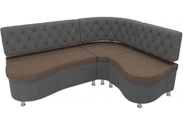 Кухонный угловой диван Вегас коричневый/Серый (Рогожка) - фото 4
