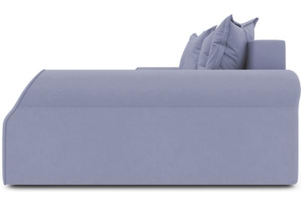 Диван угловой правый «Люксор Т2» (Poseidon Blue Graphite (иск.замша) серо-фиолетовый) - фото 5