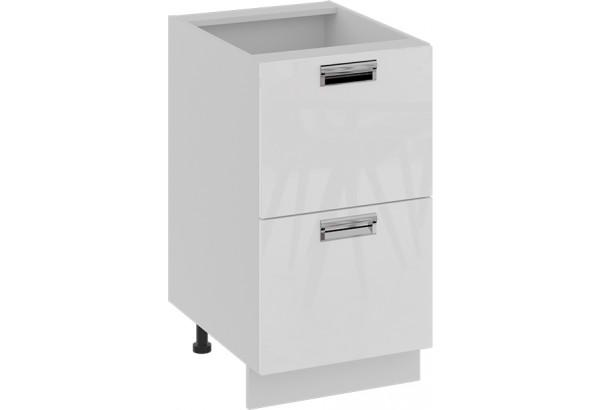 Шкаф напольный с 2-мя ящиками (БЬЮТИ (Белая)) - фото 1