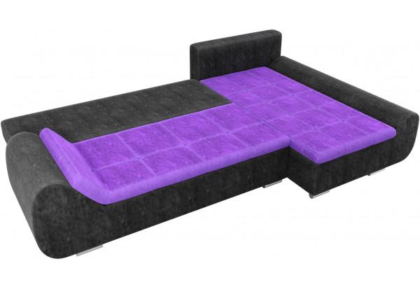 Угловой диван Анталина Фиолетовый/Черный (Велюр) - фото 8