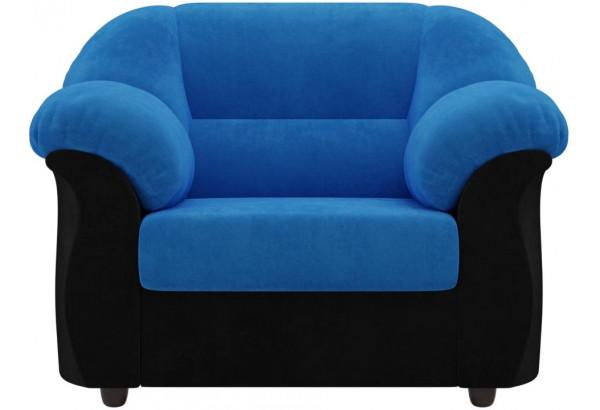 Кресло Карнелла голубой/черный (Велюр) - фото 2