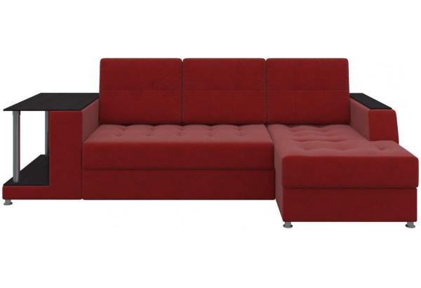 Угловой диван Атланта Красный (Микровельвет) - фото 2