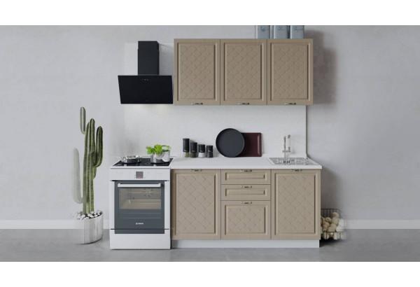 Кухонный гарнитур «Бьянка» длиной 150 см (Белый/Дуб кофе) - фото 1