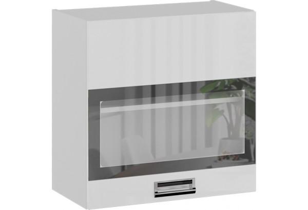 Шкаф навесной со стеклом (БЬЮТИ (Белая)) - фото 1